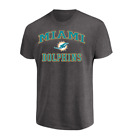 NFL Miami Dolphins Men's Majestic Heart and Soul III T-Shirt - Charcoal
