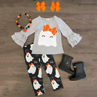 Toddler Baby Girls Halloween Outfits T-shirt Tops+Cartoon Pa