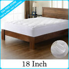 MATTRESS Pad Cover Stretches Up To 18 Inch Deep Topper Peach Skin Utopia Bedding image