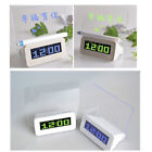 LED Light Fluorescent Message Board Digital USB HUB Alarm Clock Calendar W0032