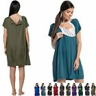 Zeta Ville Women's Maternity Nursing 3in1 Gown Labor Delivery Childbirth - 097c