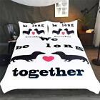 Dachshund Bedding Set Love Bed for Couples Animal Pet Dog Duvet Cover Bedclothes