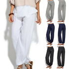 Autumn Women Lady Baggy Trousers Casual Loose Harem Buttons Pants Yoga USA stock
