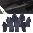 4pcs Door Armrest Sleeve Cover Trim PU Leather Shell for Honda Civic 10th 16-18