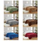 NEW LUXURIOUS SOFT MICRO PLUSH POPCORN BLANKET, BED THROW, SOLID COLORS, 4 SIZES image