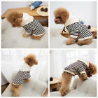USA Family Dog Cat Pet Stripe T Shirt Clothes Jacket Outfit Coat Autumn/Winter