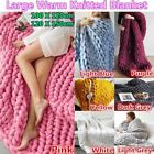 New Wool Knitted Blanket Thick Line Giant Yarn Hand Weaving Warm Soft Home Throw image