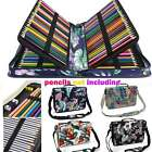 160 Slots Colored Pencil Case PU Leather Pencil Holder Sleev