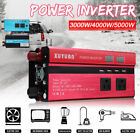 Power Inverter DC 12V/24V to AC 110V/220V Sine Sway Converter 3000W/4000W/5000W