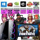 Fast Dual Core I3 Gaming PC Monitor Bundle 4GB/8GB 500GB/1TB Fortnite Computer