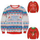 Mens Womens Ugly Christmas Sweater President Trump Xmas Knitted Pullover Hoodie