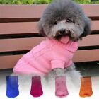 Pet Dog Warm Jumper Sweater Clothes Puppy Cat Knitwear Knitted Coat Winter US