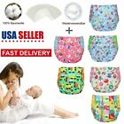 Reusable Washable Baby Soft Cloth Diapers One Size Fits All Lot of + 5 Inserts