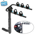 2/3/4- Bike 2'' Hitch Mount Rear Rack Foldable Car Carrier Truck Trailer Bicycle