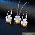 Fashion Silver Jewellery Set, Necklace & Earrings, Wedding Jewelry Crystal Gift