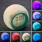 For Adults, & Digital Led Time Clock Wake Kids Date Gift Light Alarm Up Display