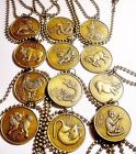 Pick One!  CHINESE ZODIAC  Astrology Symbol Year of The Animal Bronze Necklace