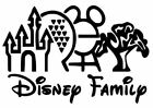 Disney Family Parks Vinyl Window car Decal/Sticker