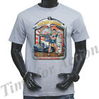 ROUTE 66 DEPENDABLE SERVICE WITH SMILE LET US OIL AND GREASE PINUP GIRL T-SHIRT