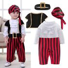 Baby Boy Girl Halloween Pirate Captain Costume Outfit Cloth Party Dress Cosplay