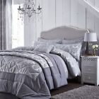 Catherine Lansfield Damask Jacquard Silver Duvet Set S/D/K/SK and Accessories