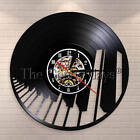 Musical Instrument Piano Vinyl Record Wall Clock Musical Note Music Pianist Gift