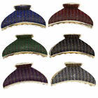 Zacs Alter Ego® Pack of 6 Assorted Colour Patterned Glitter 8.5cm Clamps