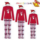 US Family Matching Christmas Pajamas Set Women Baby Kid Deer Sleepwear Nightwear