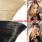 "15""~24"" One Piece Halo Invisible Secret Wire 100% Remy Human Hair Extensions 80g"