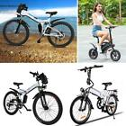 Wheel Mountain Bike Aluminum Alloy Electric Folding Cycling Bicycle White