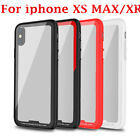 Frosted TPU Border+Tempered Glass protector Phone Case For iphone XS MAX/XR YUN