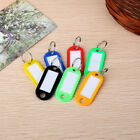 10-100 PCS Key Tags With Ring Keychain Key ID Label Luggage Name Tag Plastic
