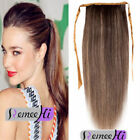 "14""  Drawsting High Ponytail Clip in 100% Straight Remy Human Hair Extension 80g"