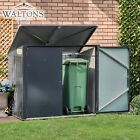 Waltons Double Wheelie Bin Store Shed Metal Garden Storage Box Outdoor Patio