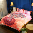 Twin Full Queen King Bed Set Pillowcase Quilt Cover AAUL Pink Elephant fxx