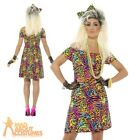 Ladies 80s Fancy Dress Party Animal Costume Neon Rave Eighties Womens Outfit