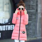 Winter Women Fashion Slim Big Cap Mid Long Cotton Padded Thicken Warm Parkas