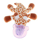 Stuffed Animal Soft Plush Toy with Detachable Silicone Dummy Paci Clip Leash