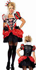 Leg Avenue 83840 NEW 2 Pc Evil Red Queen of Heart Adult Wome