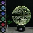 Star Wars 3D LED Night Light 7 Color Change Touch Table Desk Lamp Gift KID