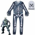 New Skull Trooper Halloween Costume Party Kid Fortnite Fortn