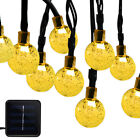 Fairy String Solar Powered Light Hanging Wall Lights Wedding Party Xmas Outdoor