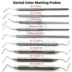 Dental Periodontal Color Coded Marking Probes Williams CP-11-12-15-18 Michigan-O