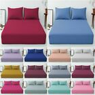 """EXTRA DEEP 16""""/40 CM FITTED POLYCOTTON SINGLE,DOUBLE, KING, SUPER KING SHEETS image"""