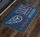 NY Giants Tennessee Titans House Divided Football Welcome Porch Doormat on eBay