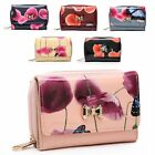 Ladies Patent Butterfly Poppy Purse Girls Floral Coin Wallet Handbag M095-325