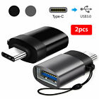 2Pcs USB C to USB OTG Adapter for Macbook Pro Surface Go Galaxy S9 S8 Note 9 8