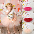 Baby Girl 1st Birthday Outfit One Year Party Cake Smash Tutu