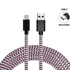 Strong Braided Fast Charge USB C Type C Data Phone Charger Cable Lead 1M 2M 3M