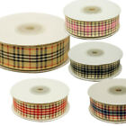 "5/8"" x 25 Yards Ribbon Wreath Craft Supply Plaid Home Decor - Choose Your Color"